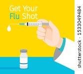 get your flu shot texts ... | Shutterstock .eps vector #1533049484