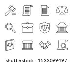 set icon of law and justice ... | Shutterstock .eps vector #1533069497