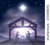 christmas christian nativity... | Shutterstock .eps vector #153308051