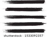 brush stroke set isolated on... | Shutterstock .eps vector #1533092357