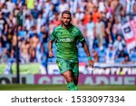 Small photo of BARCELONA - SEP 22: Willian Jose plays at the La Liga match between RCD Espanyol and Real Sociedad at the RCDE Stadium on September 22, 2019 in Barcelona, Spain.