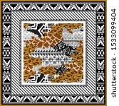 abstract scarf design pattern... | Shutterstock .eps vector #1533099404