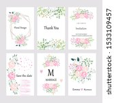 set of vector cards with hand...   Shutterstock .eps vector #1533109457
