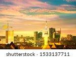 abstract green sunset... | Shutterstock . vector #1533137711