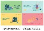 set of website landing pages of ... | Shutterstock .eps vector #1533143111
