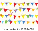bunting flags seamless pattern... | Shutterstock .eps vector #153316637