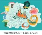 maze game for children. hand... | Shutterstock .eps vector #153317261