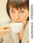 beautiful businesswoman in... | Shutterstock . vector #153320201