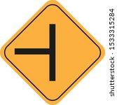 road traffic sign vector eps10   Shutterstock .eps vector #1533315284