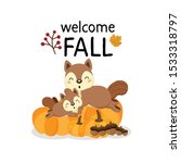 Welcome Fall  With Cute Forest...