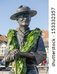 Memorial statue of Lord Baden Powell, founder of the Boy Scouts.  On public display overlooking the quay at Poole, Dorset.