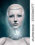3d Robotic Woman   Face Detail...