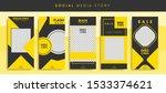 set kit bundle of social media...   Shutterstock .eps vector #1533374621