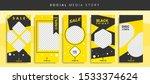 set kit bundle of social media...   Shutterstock .eps vector #1533374624