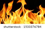 Realistic Fire Stock Image In...