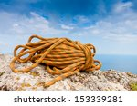 Climbing Rope Coiled Up And...