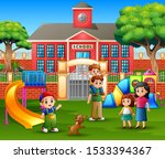 children with family in the... | Shutterstock . vector #1533394367