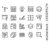 graphic design outline icon set   Shutterstock .eps vector #1533395174