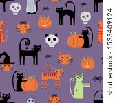 cute  fun and whimsical cats ... | Shutterstock .eps vector #1533409124