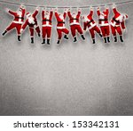 Christmas Santa Hanging On Rope....