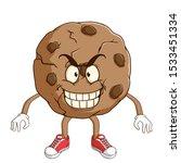 chocolate chip cookie cartoon... | Shutterstock .eps vector #1533451334