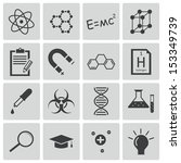 vector black  science icons set | Shutterstock .eps vector #153349739