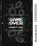 game over screen with virtual...
