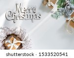 gift boxes with snow fir... | Shutterstock . vector #1533520541