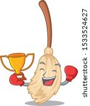 boxing winner broom behind in... | Shutterstock .eps vector #1533524627