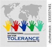 international day for tolerance ... | Shutterstock .eps vector #1533557681