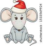 vector cute   sitting  grey ... | Shutterstock .eps vector #1533569924