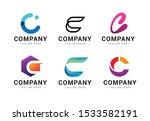 set of letter c logo icons... | Shutterstock .eps vector #1533582191