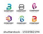set of letter b logo icons... | Shutterstock .eps vector #1533582194
