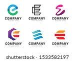 set of letter e logo icons... | Shutterstock .eps vector #1533582197
