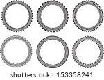 set of round frames  | Shutterstock .eps vector #153358241