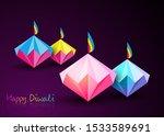 happy diwali celebration in...   Shutterstock .eps vector #1533589691
