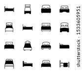 bed  bed room outline solid... | Shutterstock .eps vector #1533605951