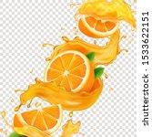 transparent splash sliced... | Shutterstock .eps vector #1533622151