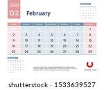 design concept layout february...   Shutterstock .eps vector #1533639527