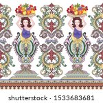 seamless bright border with big ... | Shutterstock .eps vector #1533683681