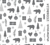 winter christmas pattern with... | Shutterstock .eps vector #1533686114