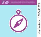 retro purple compass icon... | Shutterstock .eps vector #1533691571