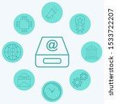 inbox vector icon sign symbol | Shutterstock .eps vector #1533722207