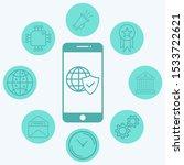 internet security vector icon... | Shutterstock .eps vector #1533722621