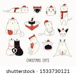 collection of cute funny... | Shutterstock .eps vector #1533730121