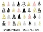 christmas tree colorful hand...   Shutterstock .eps vector #1533763421