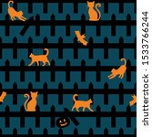 Halloween Fence With Cats...