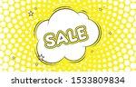 sale. retro cartoon comic... | Shutterstock .eps vector #1533809834
