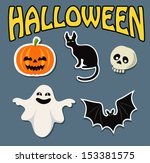 sticker funny | Shutterstock .eps vector #153381575