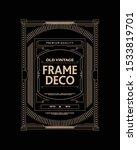 old vintage frame decorative...   Shutterstock .eps vector #1533819701